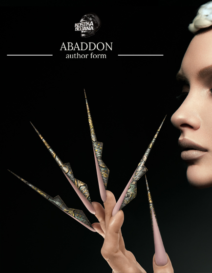 Kostka Extreme nail art Abaddon form